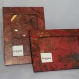 Portafoto in carta marmorizzata