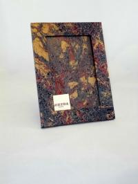 Portafoto in carta marmorizzata mr blu