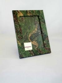 Portafoto in carta marmorizzata mr verde