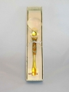 Lente d'ingrandimento in vetro di Murano fg oro bianco
