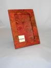 Portafoto in carta marmorizzata pv arancio
