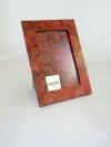 Portafoto in carta marmorizzata pv rosso
