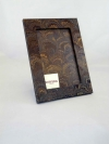 Portafoto in carta marmorizzata pv blu chiaro