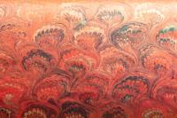 Carta marmorizzata rosso pavonato