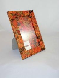 Portafoto in carta marmorizzata mr arancio