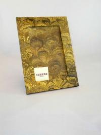 Portafoto in carta marmorizzata pv giallo