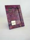 Portafoto in carta marmorizzata pv viola
